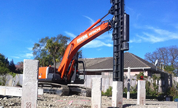 Moore Construction Diggers Pile driving