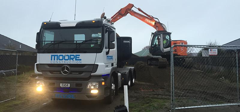 Moore Construction Truck & Digger