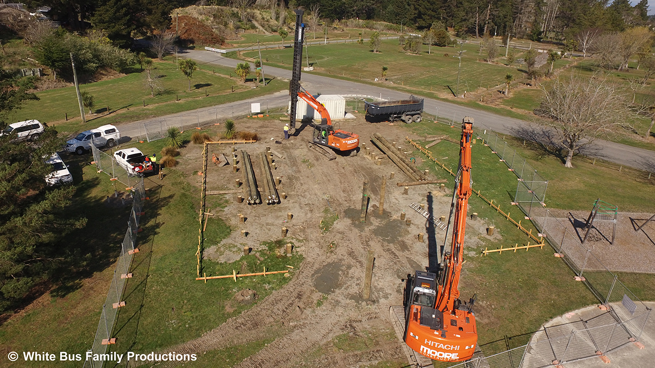 Moore Construction Pile driving