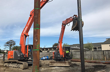 Colombo Street Piling Construction