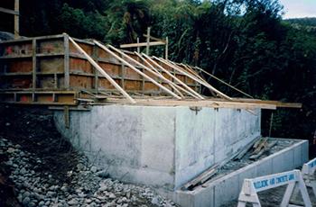 Mine Memorial Construction